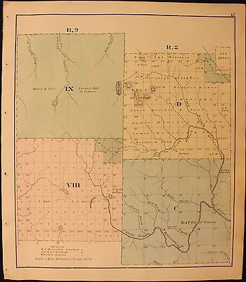 m Original 1877 Roe & Colby Aroostook County Townships C and D Map