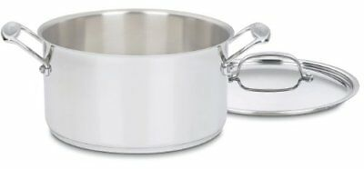 Cuisinart Chef's Classic Stainless Stockpot with Cover 6qt, New