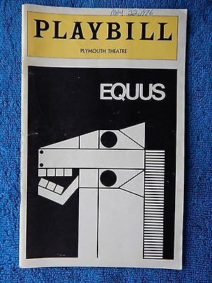 Equus - Helen Hayes Theatre Playbill - May 1976 - Anthony Perkins - McDermott