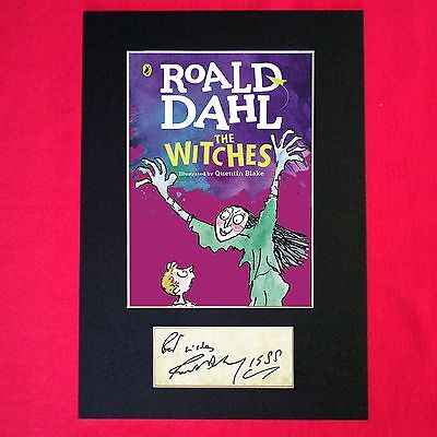 ROALD DAHL The Witches Book Cover Autograph Signed Mounted Print 687