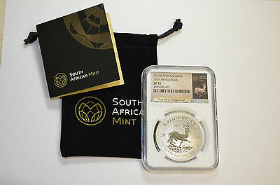 2017 Krugerrand  NGC SP70 Silver Africa 50th Anniversary  ~Rare~