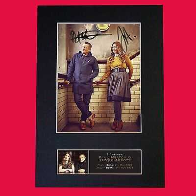 PAUL HEATON & JACQUI ABBOTT Signed Autograph Mounted Photo RE-PRINT A4 687