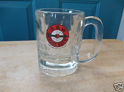 Vintage A & W Ice Cold Root Beer Glass Mug with Arrow Design