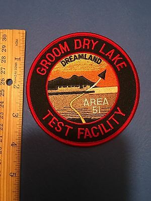 Area 51 Groom Dry Lake Test Facility Dreamland Shoulder Patch