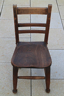 Old Antique Child Infant Wooden School Teddy Chair Vintage Retro