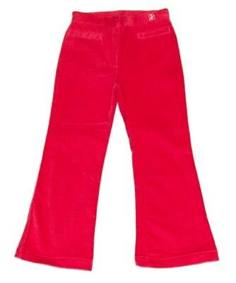 JACADI Girl's Brune Fushia Corduroy Flared Trousers Size 12 Years $56 NWT