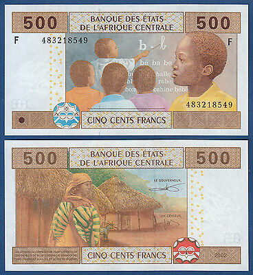CENTRAL AFRICAN STATES / EQUATORIAL GUINEA 500 Francs UNC P.506F b