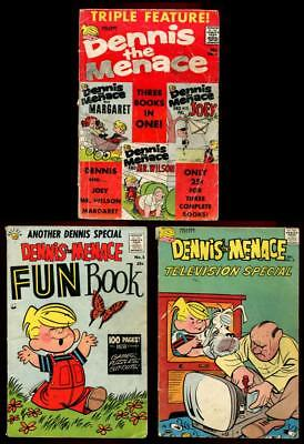 DENNIS THE MENACE Giants TRIPLE FEATURE #1, FUN BOOK #1, TV SPECIAL #2