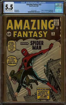 Amazing Fantasy #15 CGC 5.5 1st Appearance of Spider-Man