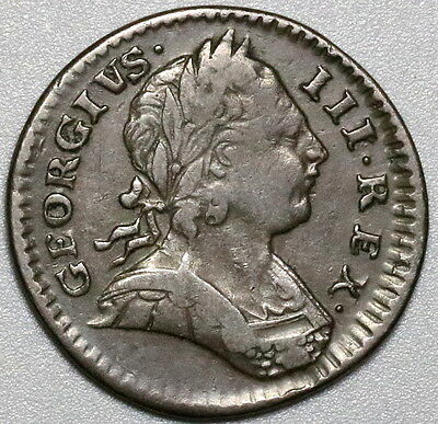 1773 George III Farthing GREAT BRITAIN 1/4 Penny Coin (17032502R)