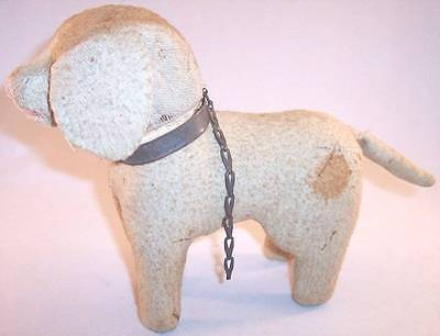 Antique Vintage Old Stuffed Toy Dog, Intact but Rough Shape