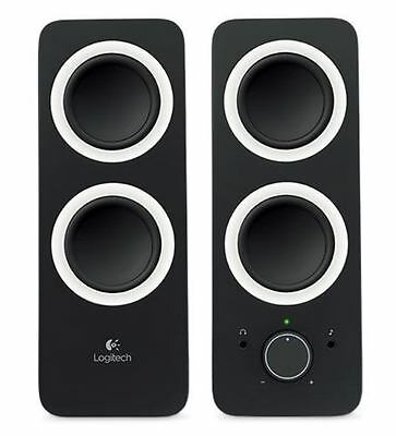 Logitech 980-000812 - Z200 SPEAKERS - MIDNIGHT BLACK 3.5MM UK ADAPT IN