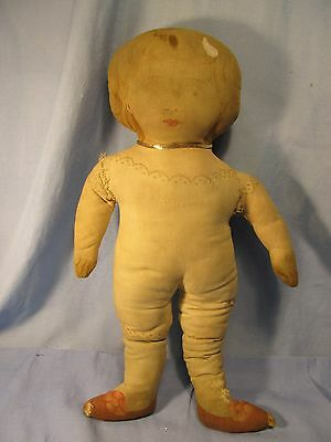 Antique Cloth Doll.. Early 1900's ~ Very Much Loved ~Looking for a Mama!