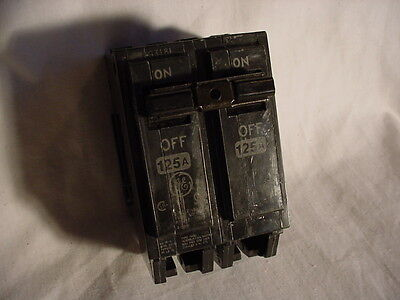 NEW! GE General Electric THQL21125 125 Amp, 2 pole, 120/240v circuit breaker