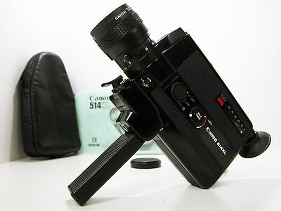 CANON Super 8 MOVIE CAMERA W/Lens Cap & Instructions Works Well