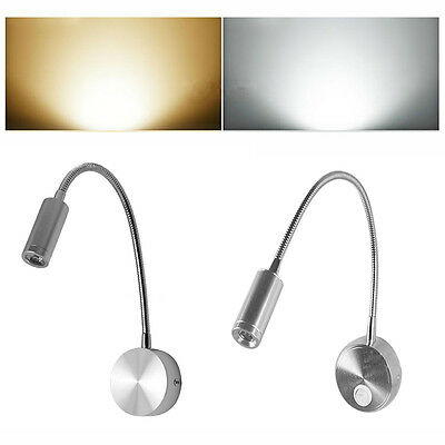 Flexible Hose Adjustable LED Wall Light Mirror Lamp Room Bedside Light 1W/3W