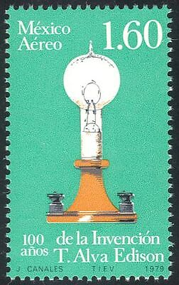 Mexico 1979 Electric Light/Edison/Inventors/Inventions/People/Science 1v  n42901