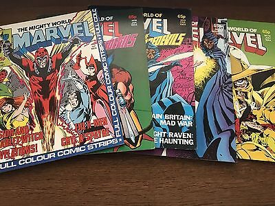 Mighty World of Marvel MonthlyComic 4, 8, 9, 10, 14 with Captain Britain 1983-84