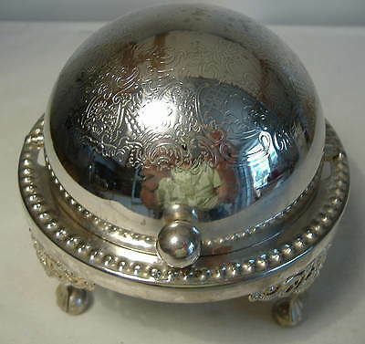 Silver Plated Roll Top Butter/caviar Dish