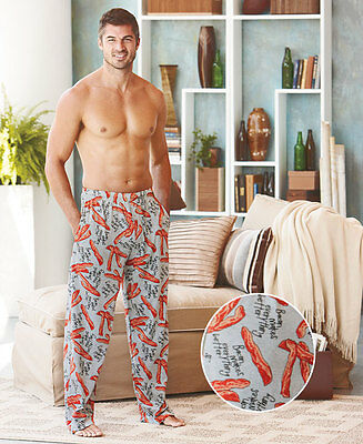 Men's Novelty Knit Lounge Pants` Cotton Elastic Waistband Pajama Casual Outfit