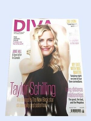 Diva Magazine August 2017 - Lesbian Lifestyle Taylor Schilling Orange New Black