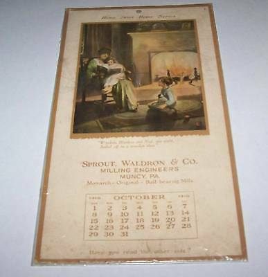 1916 advertising calendar MUINCY PA
