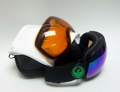 DRAGON Alliance X1 Snow Goggles, JET - Green Ion + Yellow Blue Ion / RX15A/30