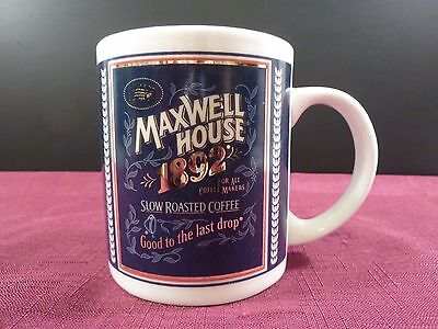 Maxwell House 1892 Coffee Mug; Tin Box Company of America; Good to the last drop