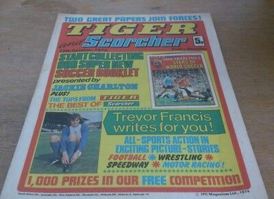 Tiger & Scorcher, 12/10/74, 1St Combined Issue,jackie Charlton Pages Attached
