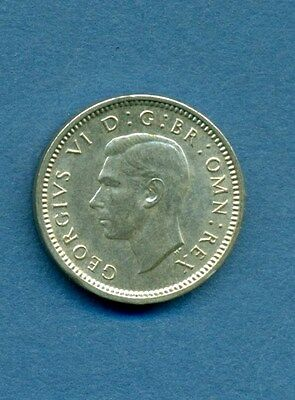 Great Britain 1944 3 Pence Silver Nice