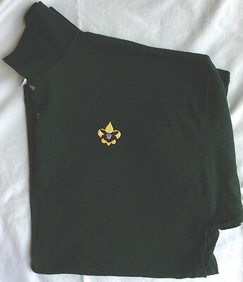 New Class B Forest Green Polo With Embroidered BSA Boy Scout Universal Logo 3XL