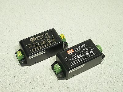 Lot of 2 MEAN WELL IRM-30-12ST 12V 2.5A Single Output Power Supply