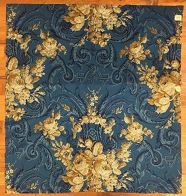 Beautiful 19th Century French Floral Neoclassical Toile Fabric (2077)