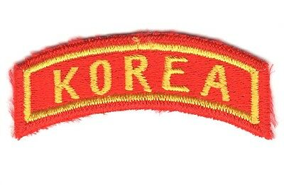 "USMC Marine Patch:  Station Tab ""KOREA"""