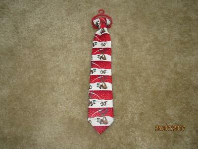 NWT Toddler Boy Christmas Reindeer Soccer Clip on Tie