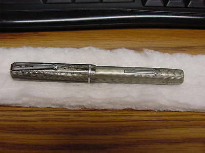 Vintage Esterbrook 3556 Fountain Pen Silver Feather Design 4 3/8""