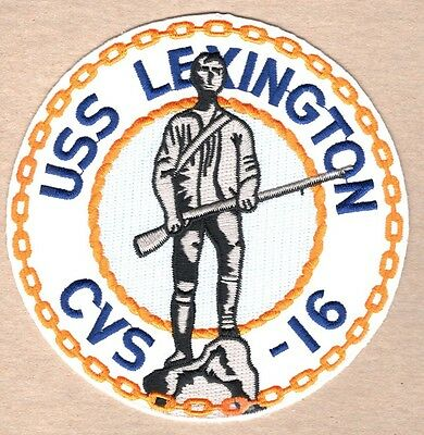 USN Navy Patch:  Ship - USS Lexington CVS-16 - 5""