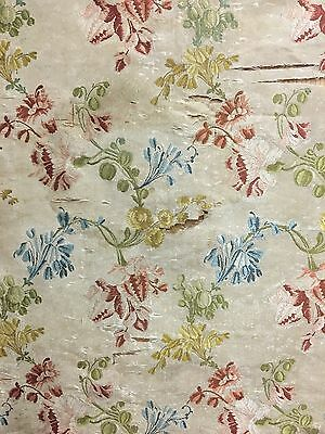 Beautiful Antique 18th Century French Brocade Woven Floral Fabric (2073)