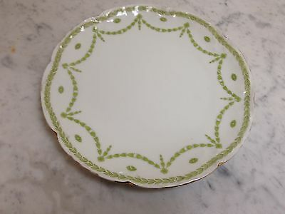 Lovely Vintage French China Cake Plate Limoges A Lanternier  8.25""