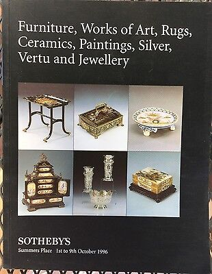 SOTHEBY'S Auction Catalog 10/1/1996 Furn Art Rugs Ceramics Paintings, Silver UK