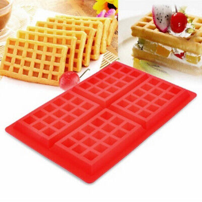 Square baking Tools Silicone Waffle Mold Muffin Maker Pan Cookie Cake