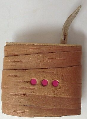 Vintage Handmade Birchbark Native Ameican Covered Container