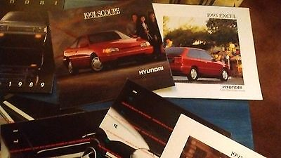 11 Hyundai Sales Brochures / Catalogs Misc. Years and Models