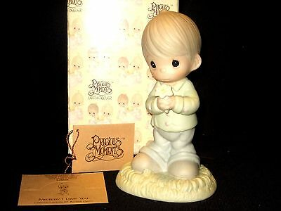 "Precious Moments ""Mommy I Love You""   Boy Figurine   New!  # 109975"