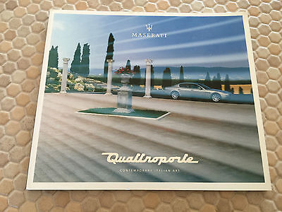 Maserati Official Quattroporte Prestige Sales Brochure 2005 Usa Edition