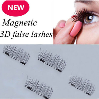 4Pcs/2 Pairs 3D Magnetic False Eyelashes Natural Eye Lashes Extension Top Sale