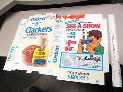 cereal box Gen Mills CLACKERS 1968 Marvel Captain America Kenner Give Show Bozo