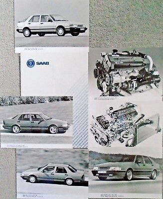 Saab 9000 CD 2.3 16S Press Pack 1991 Photograph x 6 in Card Envelope