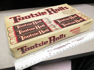 TOOTSIE ROLLS 1950s vintage candy box store display pops chocolate #1(ink)