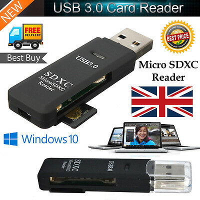 5Gbps Super Speed 2 IN 1 USB 3.0 Memory Card Reader Flash Adapter Micro SD SDXC